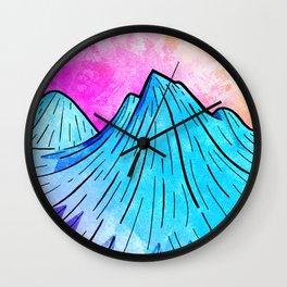 Th Summer Peaks at Morning Wall Clock