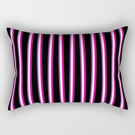 Between the Trees Black, Pink & Purple #259 Rectangular Pillow