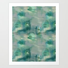 Ghostly Galleons by Katrina Ward Art Print
