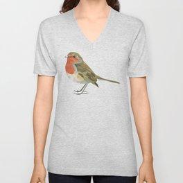 Geometric Robin artwork Bird Unisex V-Neck