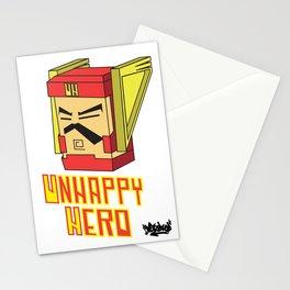 unhappy hero Stationery Cards