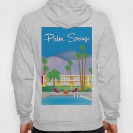 Palm Springs, California - Skyline Illustration by Loose Petals Hoody