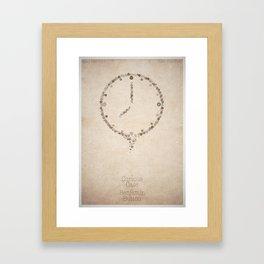 The Curious Case of Benjamin Button - minimal poster Framed Art Print