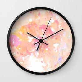 Peach Bubble Gum Wall Clock