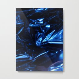 Dark Chrome Folds Nr.2 Metal Print