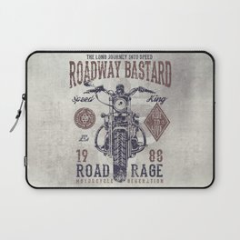 Vintage Motorcycle Poster Style Laptop Sleeve