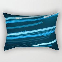 Blue Swizzle Rectangular Pillow