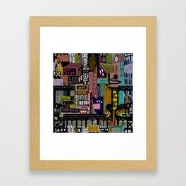 Mid-Century City Framed Art Print