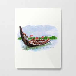 Snake Boat Race- Kerala - 135 Metal Print