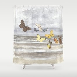 Butterfly escape Shower Curtain