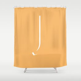 The Letter J Shower Curtain