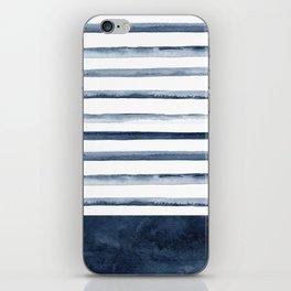 Watercolor Stripes Pattern iPhone Skin