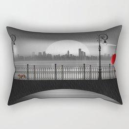 The bridge in the summer rain Rectangular Pillow