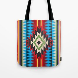 Navajo Pattern Five Tote Bag
