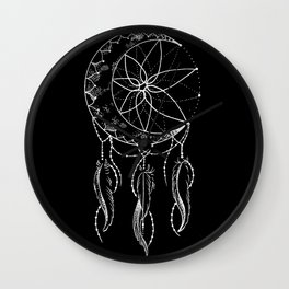 Dream Catcher with Crescent Moon Wall Clock
