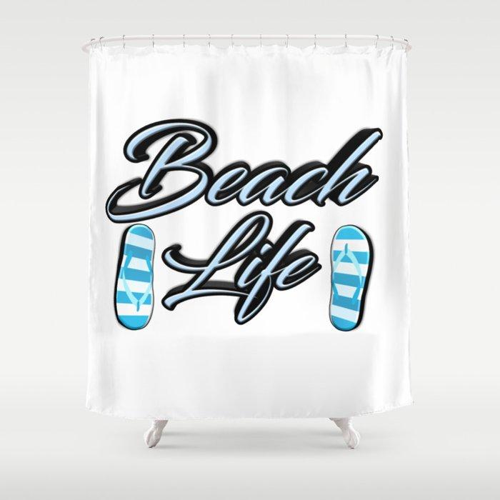 Beach Life Shower Curtain