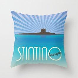 Vintage Stintino - Sardegna Throw Pillow