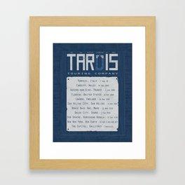 The Doctor's TARDIS: Touring Company Framed Art Print