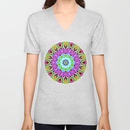 Beautiful colorful abstract mandala Unisex V-Neck