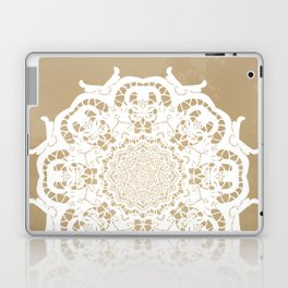 Venetian lace circular ornament Laptop & iPad Skin