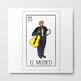 El Musico, the musician Metal Print