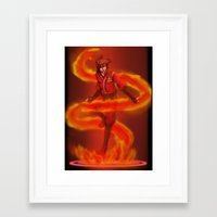 vocaloid Framed Art Prints featuring VOCALOID Kai by Witchy
