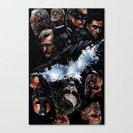 Dark Knight Trilogy Mural Canvas Print