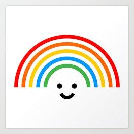 Smiley rainbow Art Print