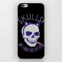 Skulls and Kittens iPhone Skin