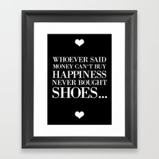 happiness black Framed Art Print