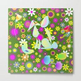 """""""Spring Pattern"""" Metal Print"""