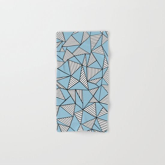 Ab Blocks Blue #2 Hand & Bath Towel