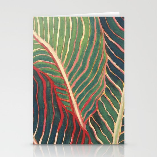 Canna Leaves Stationery Cards