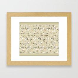 Paisleys in Biege - by Fanitsa Petrou Framed Art Print