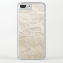 Brown Paper Texture Background Clear iPhone Case