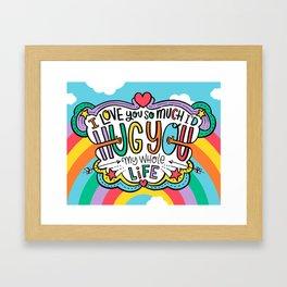 Hug You My Whole Life Framed Art Print