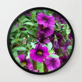 Purple Petunia Wall Clock