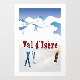 Val d'Isère, French Alps  Art Print