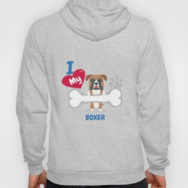 BOXER Cute Dog Gift Idea Funny Dogs Hoody