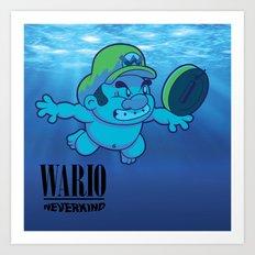 Wario - Neverkind Art Print