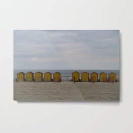 Yellow Huts on the Seashore Metal Print