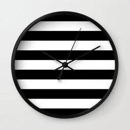 Black Bold Stripes Wall Clock