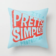 Pretty Simple Throw Pillow
