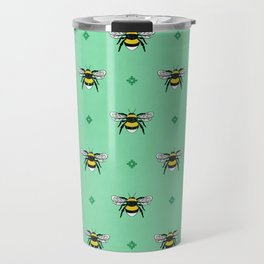 Bumblebees on Spearmint Travel Mug
