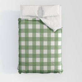 Green & White Gingham  Comforters