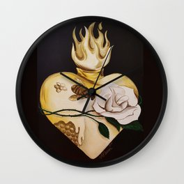 Honeycomb Heart Wall Clock