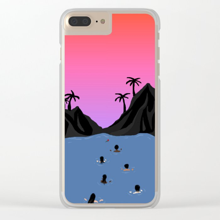 Swim Together Clear iPhone Case