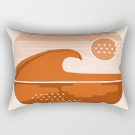 To The Max - retro vibes 70's socal beach waves surfing 1970s throwback minimalist art Rectangular Pillow