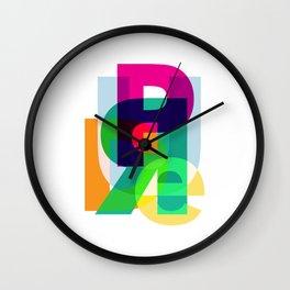 PRUDE Wall Clock