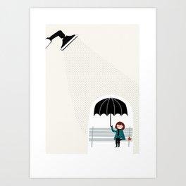 Under the rain Art Print